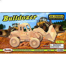 Bulldozer - 3D Wooden Puzzle - Jigsaws