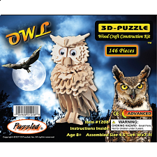 Owl - 3D Wooden Puzzle - 101-499 Pieces