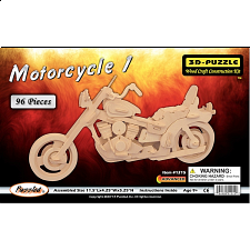 Motorcycle 1 - 3D Wooden Puzzle - Jigsaws