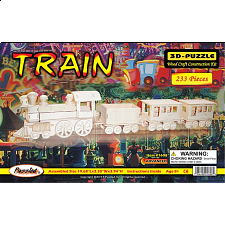 Train - 3D Wooden Puzzle - Jigsaws