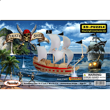Pirate Ship - 3D Wooden Puzzle - 101-499 Pieces