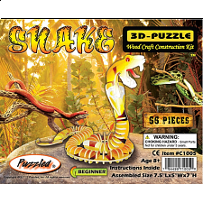 Snake - Painted - 3D Wooden Puzzle
