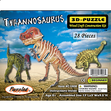 Tyrannosaurus - Painted - 3D Wooden Puzzle