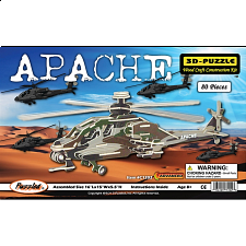 Apache - Painted - 3D Wooden Puzzle