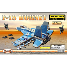 F-18 Hornet Jet Plane - Illuminated 3D Wooden Puzzle - Search Results