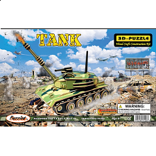 Tank - Illuminated 3D Wooden Puzzle - Jigsaws