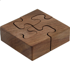 Wooden Spiral - Wedge Key Puzzles - Wood Puzzles