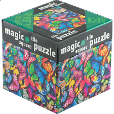 Magic Square Tile Puzzle - Butterflies - 25 Pieces
