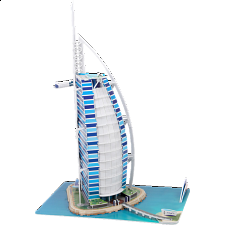 Burj Al Arab - 3D Jigsaw Puzzle - 1-100 Pieces