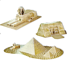 Egypt Relique - 3D Jigsaw Puzzle - 1-100 Pieces