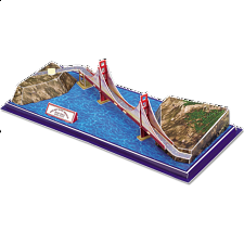 Golden Gate Bridge - 3D Jigsaw Puzzle
