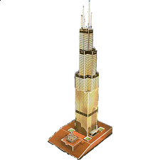 Willis Tower - Formerly known as Sears Tower - 3D Jigsaw Puzzle -