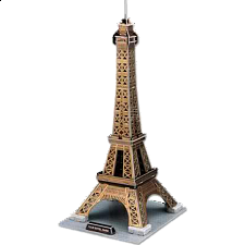 Eiffel Tower - Large - 3D Jigsaw Puzzle - 3D