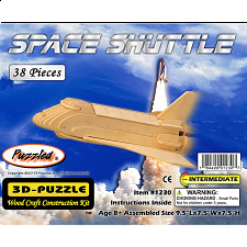 Space Shuttle - 3D Wooden Puzzle - 1-100 Pieces