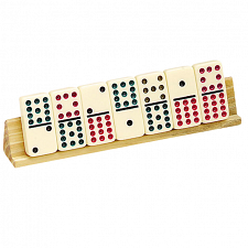 Domino Holders (2)  - Wooden - Dominoes