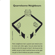 Quarrelsome Neighbours - Trade Card - Paper Puzzles