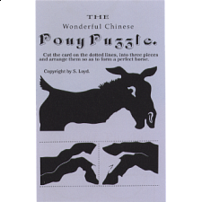 The Wonderful Chinese Pony Puzzle - Trade Card - Paper Puzzles