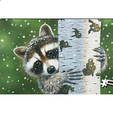 World's Smallest Jigsaw Puzzle - Peekaboo Raccoon