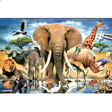World's Smallest Jigsaw Puzzle - African Oasis - World's Smallest Pieces
