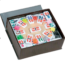 Mexican Train Dominoes Double 18 (NUMBERS) - Dominoes