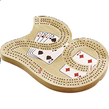 "Large "" 29 "" 3 Track Cribbage Board - Wood Games"