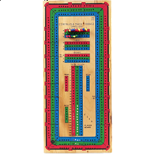 Deluxe Color 3 Track Cribbage Board