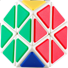 Tiled Tetraminx with White Body with glue - Meffert's Rotational Puzzles