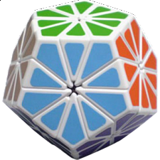 Pyraminx Crystal with White Body -