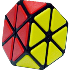 Tiled Tetraminx with Black Body with glue - Meffert's Rotational Puzzles
