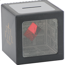 Disappearing Coin Bank with Levitating Red Cube