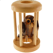 Owl in a Cage - Wood Puzzles