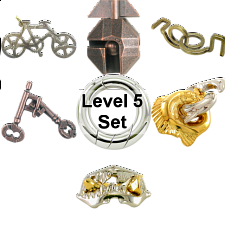 .Level 5 - a set of 7 Hanayama puzzles