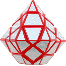 Diamond Cube - Red Body - Other Rotational Puzzles