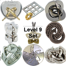 .Level 9 - a set of 9 Hanayama Puzzles