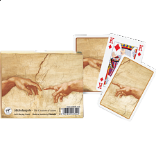 "Michelangelo: ""The Creation of Adam"" Playing Cards"