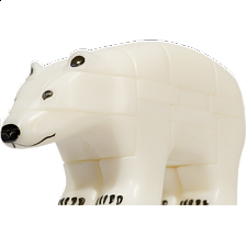 Anipuzzle - Nanook - Polar Bear - Plastic Interlocking Puzzles