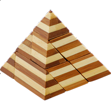 Bamboo Wood Puzzle - Pyramid - Other Wood Puzzles