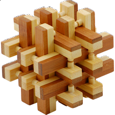 Bamboo Wood Puzzle - Lock Up - Wood Puzzles