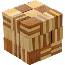 Bamboo Wood Puzzle - Cube Chain -