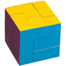 Colourful Cube - Wood Puzzles