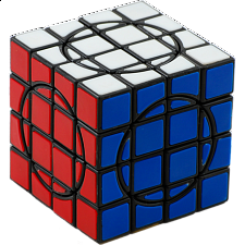 Crazy 4x4x4 II - Black Body/Tile - Other Rotational Puzzles