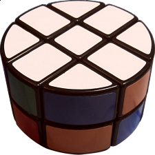 Round 3x3x2 - Black Body - Rubik's Cube & Others