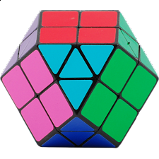 Rainbow Cube - 14 color Black Body - Other Rotational Puzzles