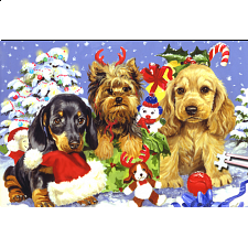 World's Smallest Jigsaw Puzzle - Yule Pups