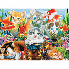 Furry Friends - Fishing Kittens - Jigsaws