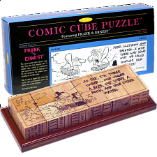 Comic Cube Puzzle - Frank & Ernest - Other Wood Puzzles