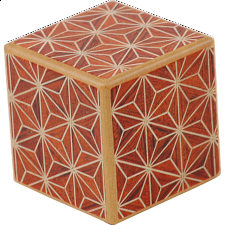 Karakuri - Small Box #1 Akaasa - Wood Puzzles