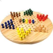 Chinese Checkers - 7 inch - Wood Games
