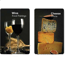 Playing Cards - Wine and Cheese Facts - Card Games