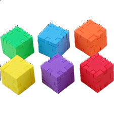 Happy Cube - 6-Pack - Foam Puzzles